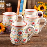 The Pioneer Woman Flea Market 18 oz Decorated Belly Mugs, Set of 4 - Walmart.com