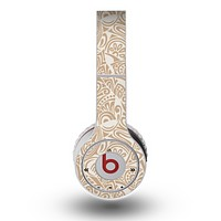 The Tan Abstract Vector Pattern Skin for the Original Beats by Dre Wireless Headphones
