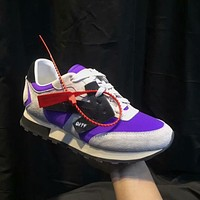 OFF-WHITE Women Fashion Sport Sneakers Shoes Purple