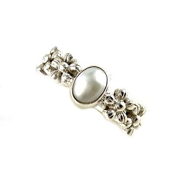 Pearl Garden Sterling Silver Ring