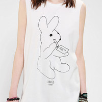 Urban Outfitters - Warpaint Drugs Bunny Muscle Tee
