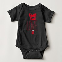 Love Magnet Black and Red (Baby Toddler) Shirt