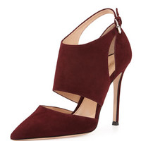 Gianvito Rossi Cutout Ankle-Wrap Point-Toe Pump