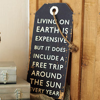 'Free Trip To The Sun' Wall Art Sign
