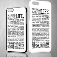 Life Quotes About Passion V0468 iPhone 4S 5S 5C 6 6Plus, iPod 4 5, LG G2 G3 Nexus 4 5, Sony Z2 Case