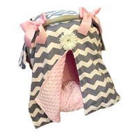 Hot Stroller Accessories Cover Shade Bow Blanket Baby Car Seat Cover Canopy Polyester Set Fit Infant Car Seat Boy Girl 2017