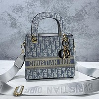 Dior embroidered letters ladies shopping shoulder bag messenger bag