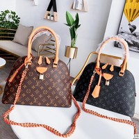 Louis Vuitton fashion classic monogram printed casual lady hand shell shoulder bag