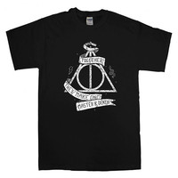 Harry Potter and the Deathly Hallows For T-shirt Unisex Adults size S-2XL Black and White