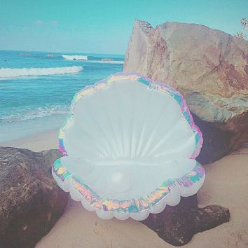 Giant Mermaid Shell Pool Float