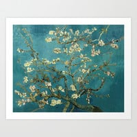 Blossoming Almond Tree, famous post  impressionism fine art oil painting by Vincent van Gogh.  Art Print by NatureMatters