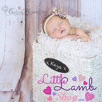 Preorder Champagne Headband, newborn baby girl headband photography props - vintage couture boutique