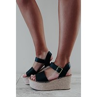 Something Beautiful Wedges: Black