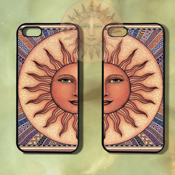 Sun Couple Case-iPhone 5 case, iphone 4scase, 4 case, Samsung GS3-Silicone Rubber or Hard Plastic Case, Phone cover