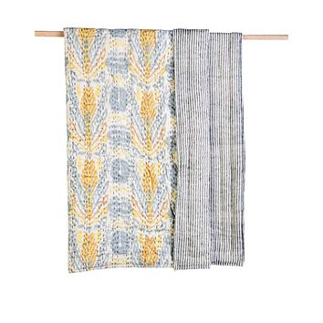 SPECIAL IKAT KANTHA QUILT - GENDER NEUTRAL GIFT