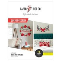 Paper Riot Merry Christmas Flowers/Most Wonderful Time Wall Art