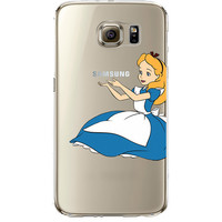 Disney's Alice in Wonderland Jelly Clear Case for Samsung Galaxy S7 Edge
