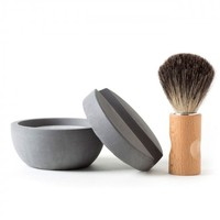 Shaving Kit with Concrete Container