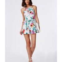 Missguided - Sharkita Floral Print Romper - Campaign