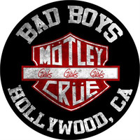 Motley Crue Sew On Canvas Back Patch Round Bad Boys Hollywood Logo