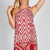 Quarterback Keeper Red & White Gameday Dress