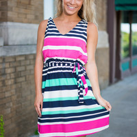 Easy Day By The Bay Dress, Navy