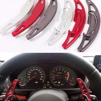 DEE Aluminium Alloy steering wheel DSG paddle shifters for BMW M2 M3 M4 M5 M6 X5M X6M Paddle Gearbox Car Accessories stickers