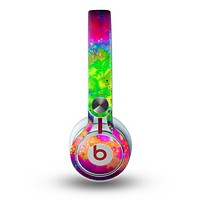 The Neon Splatter Universe Skin for the Beats by Dre Mixr Headphones