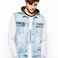 River Island Jacket with Jersey Sleeves
