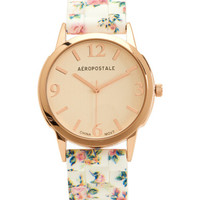 Floral Rubber Watch