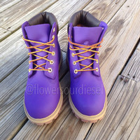 Purple Timberland Boots (Womens' Sizes)