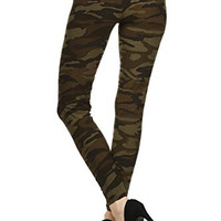 Always Camouflage Army print High Waist Leggings - Camo Pants For Women