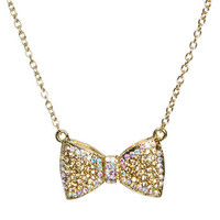 Bow Short Necklace   Shop Trending Now at Wet Seal