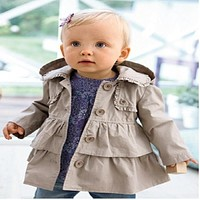 baby girl warm autumn child girl princess long sleeve children wear thick coat
