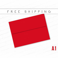 Red Envelopes Pack of 25 High Quality Envelopes A1 Size Dark Red Bulk Envelopes Invitation Birthday Announcement RSVP Card Free Shipping Red