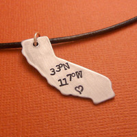 You'll find my heart at Disneyland - A Hand Stamped Aluminum Necklace