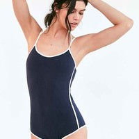 Out From Under Varsity Halter Bodysuit