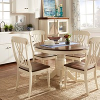 TRIBECCA HOME Mackenzie Country Style Two-tone Dining Set   Overstock.com Shopping - The Best Deals on Dining Sets
