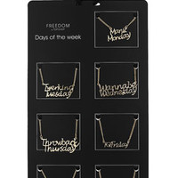 DAYS OF THE WEEK NECKLACES