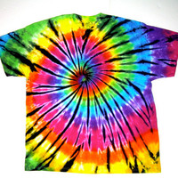 Tie Dye Shirt/ Rainbow Stained Glass/ Adult 2XL