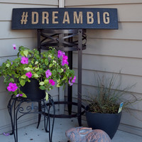 Dream Big Vintage Style Wood Sign Wall Art