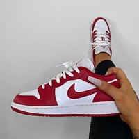 "Air Jordan 1 Low AJ1 Low ""Gym Red"" Sneaker"