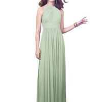 Dessy Collection 2918 Halter Floor Length Chiffon Bridesmaid Dress