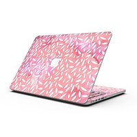 The Pink Watercolor Grunge with Flower Pedals - MacBook Pro with Retina Display Full-Coverage Skin Kit