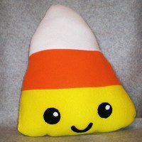 Candy Corn Pillow MADE TO ORDER by Higginstuff on Etsy