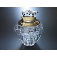 Crystal Table Lighter White Metal Japan Movable Top