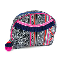 Global Groove Hmong Batik Cosmetic Bag in Indigo (Fair Trade)