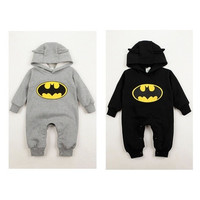 Hot Fashion Newborn Boys Baby Clothes Batman Hoodies Infant Romper Bodysuit Clothes 3-24Months [8270521345]