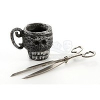 Original Movie Prop - Nightmare Before Christmas, The - Miniature Scissors And Skull Cup