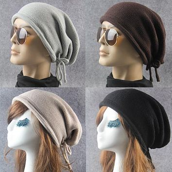 Women  Winter Warm Baggy Beanie Knit Crochet Ski Cap Oversized Slouch Hat